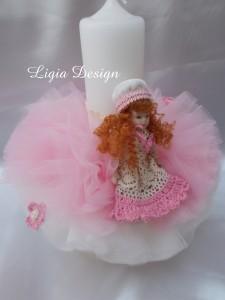 Lumanare stalp (35 cm) - baby doll  - 160 lei