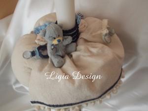 lumanare botez ursulet bleu/bleumarin