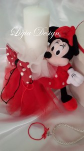 2179 - lumanare stalp -Minnie mouse