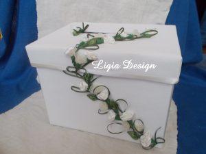 cutie dar ghirlanda crem-verde