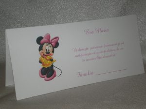 Plic de bani botez Minnie Mouse