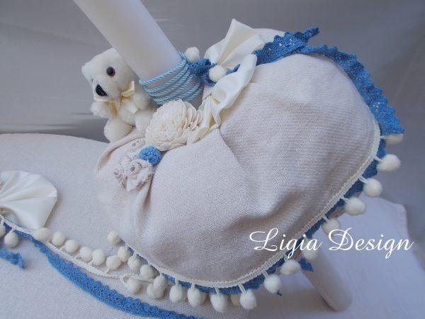 027 - lumanare dantela bleu - 189 lei