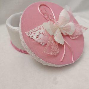 cutiuta amintiri pink butterfly